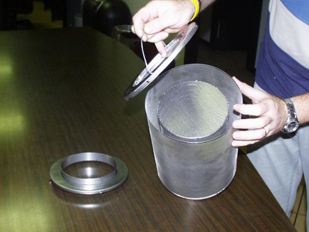 Roestvaststalen geperforeerde filterbehuizing voor actief koolstoffilter