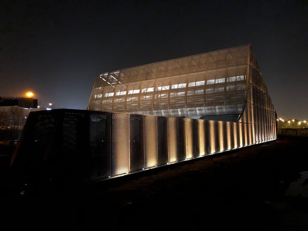 pompstation schijnpoort antwerpen nacht links